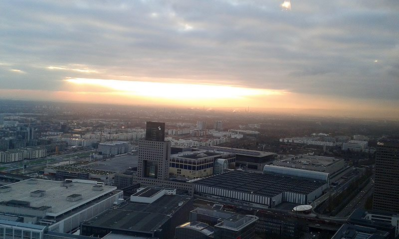 The Marriott Frankfurt has an amazing executive lounge overlooking the city.