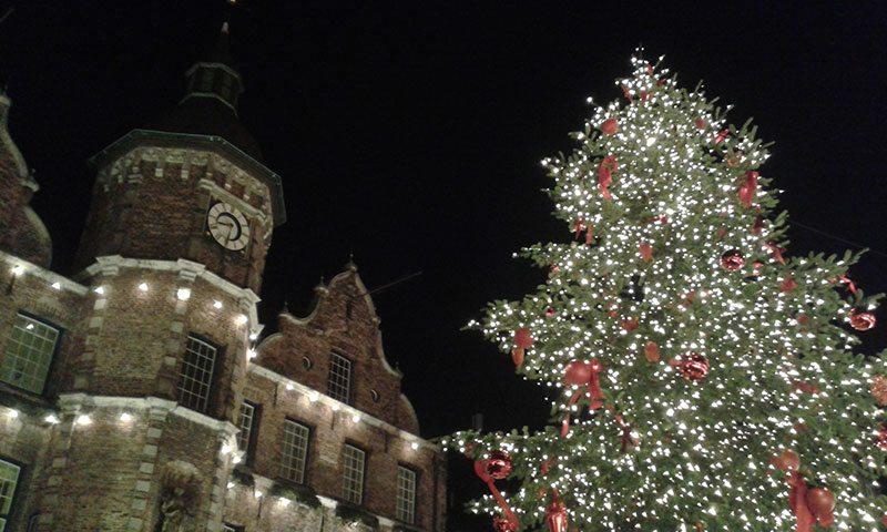 City Hall Marktplatz Düsseldorf Christmas Market
