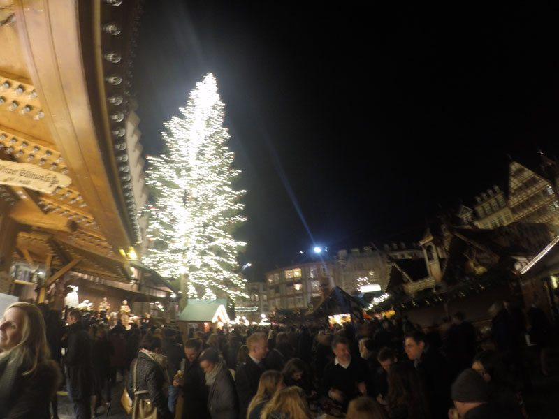 Frankfurt Christmas Market huge Tree