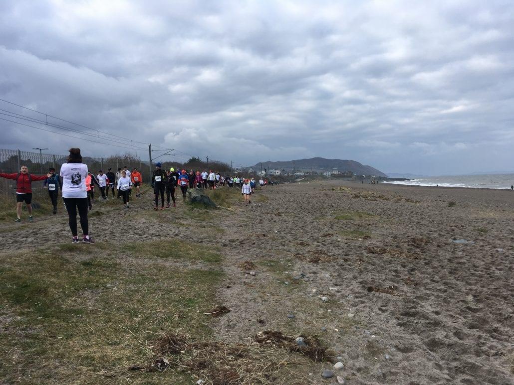 Greystones Beach the start line
